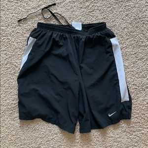 Boys Nike Dri-Fit Running Shorts, Black - Medium